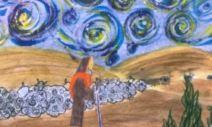 No céu fulgura uma estrela in A casa de cedro de Vergílio Alberto Vieira EB 2, 3 Ceira - 7º AC. Agrupamento de Escolas Coimbra Sul BN
